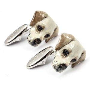 Dog Fever Sterling Silver Enamelled Labrador Muzzle Cufflinks