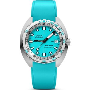 Doxa Watch Sub 300t Aquamarine Rubber Blue , Blue