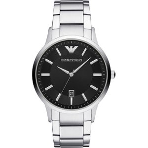 Emporio Armani Watch Quartz Mens Black , Black