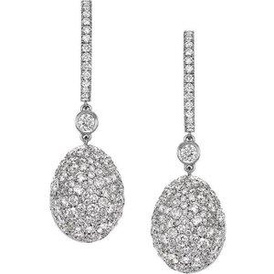 Faberge Emotion 18ct White Gold Diamond Drop Earrings