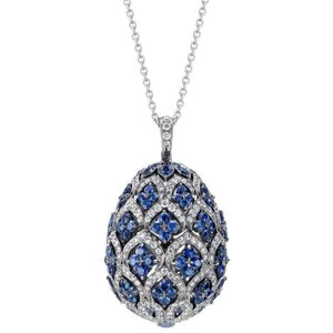 Faberge Imperial Zenya Sapphire Pendant Silver , Silver