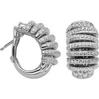 Fope Panorama 18ct White Gold 1.06ct Diamond Hoop Earrings