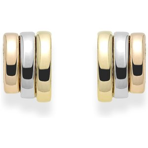 Fope Prima 18ct Yellow White Rose Gold Stud Earrings