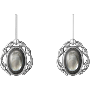 Georg Jensen 2020 Heritage Oxidised Sterling Silver Pearl Drop Earrings