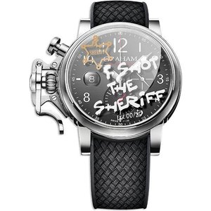 Graham Watch Chronofighter Grand Vintage I Shot The Sheriff Limited Edition Black, Black