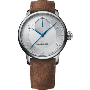 Louis Erard Watch Excellence Triptych Monopusher Silver, Silver