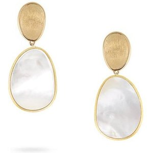 Marco Bicego Lunaria 18ct Yellow Gold Mother Of Pearl Drop Earrings