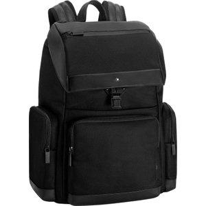 Montblanc City Bag My Montblanc Nightflight Large Backpack With Flap Black , Black