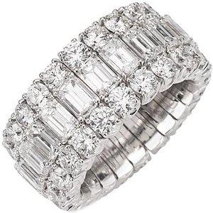 Picchiotti Xpandable 18ct White Gold 15.72ct Diamond Eternity Ring , White Gold