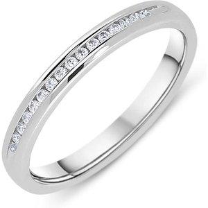 C W Sellors Diamond Jewellery Platinum 0.07ct Diamond Brilliant Cut Half Eternity Ring , Platinum