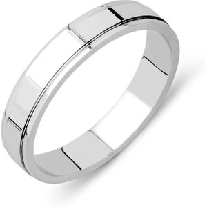 Archive Platinum 4mm Dipped Edge Wedding Ring