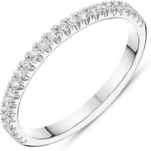 C W Sellors Diamond Jewellery Platinum Brilliant Cut 0.27ct Diamond Half Eternity Ring
