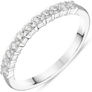 C W Sellors Diamond Jewellery Platinum Brilliant Cut 0.29ct Diamond Half Eternity Ring