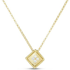 Roberto Coin Palazzo Ducale 18ct Yellow Gold Diamond Pendant Necklace