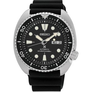 Seiko Watch Prospex Turtle Mens Black , Black