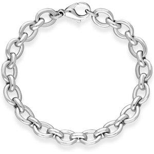 C W Sellors Sterling Silver Large Oval Links Handmade Bracelet