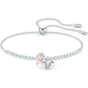 Swarovski Attract Pink Rhodium Plated Bracelet