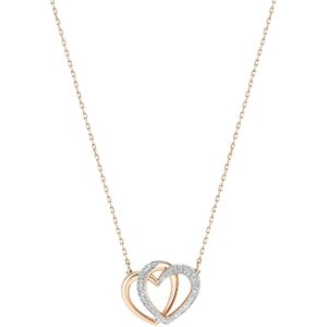 Swarovski Dear Medium White Rose Gold Plated Necklace Silver , Silver