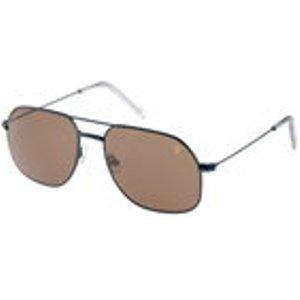 Flared Square Aviator Sunglasses In Farah Navy/ Grey Mist Mens Accessories