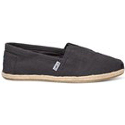 Toms Mens Classics Espadrilles In Washed Black Linen Mens Footwear