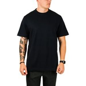 Albam Meyer Loose Fit T-shirt In Navy Mens Tops