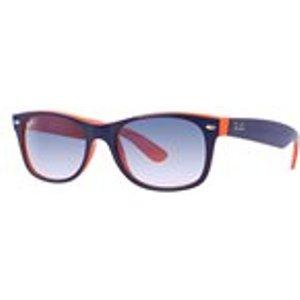 Ray Ban New Wayfarer Sunglasses In Top Blue Orange / Crystal Gradient Mens Accessories