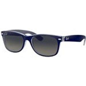 Ray Ban New Wayfarer Sunglasses In Top Matte Blue On Transparent / Grey Gradient Mens Accessories