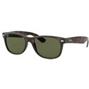 Ray Ban New Wayfarer Sunglasses In Tortoise / Crystal Green Mens Accessories