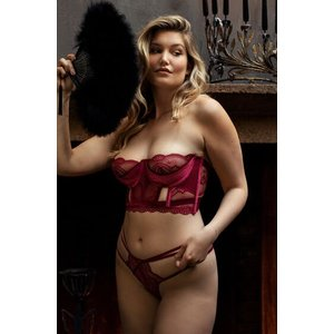 Hunkemöller Blondie Thong Red 169791 M, Red