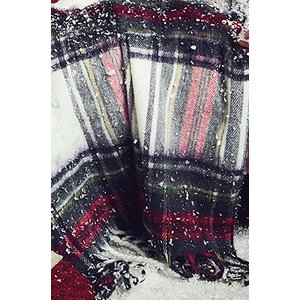 Hunkemöller Checkered Blanket Scarf 164994 One Size, Red