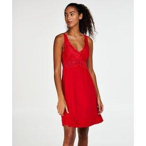 Hunkemöller Modal Lace Slip Dress Red 108101 S , Red