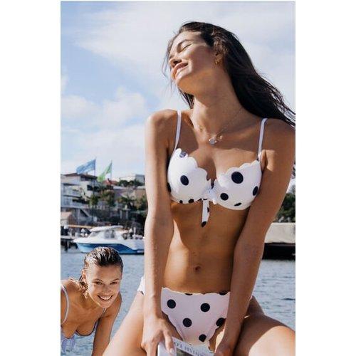 Hunkemöller Padded Underwired Bikini Top Scallop Dot White 172440 36f, White