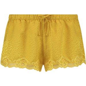 Hunkemöller Satin Pyjama Shorts Yellow 167135 2xs Lingerie, Yellow