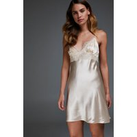 Hunkemöller Silk Lace Slip Dress Beige 168085 Xs, Beige