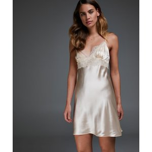 Hunkemöller Silk Lace Slip Dress Beige 168085 Xl , Beige