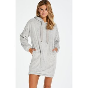 Hunkemöller Snuggle Fleece Dress Grey 170210 S, Grey