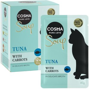 12 X 40g Cosma Soup Wet Cat Food - 15% Off!* - Tuna With Carrots Pets