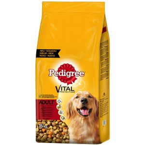 12kg Pedigree Dry Dog Food + 3kg Free!* - Adult Complete - Vital Protection Chicken With V Pets