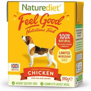 18 X 390g Naturediet Feel Good Wet Dog Food - Double Zoopoints!* - Senior Lite - Turkey &  Pets
