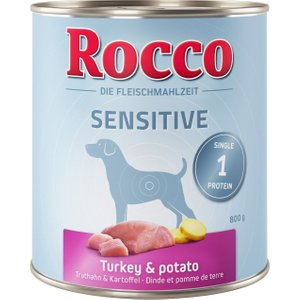 24 X 800g Rocco Sensitive Wet Dog Food - 20 + 4 Free!* - Game & Pasta Pets