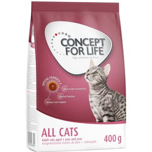 3 X 400g Concept For Life Dry Cat Food - Special Price!* - Sensitive Cats Pets