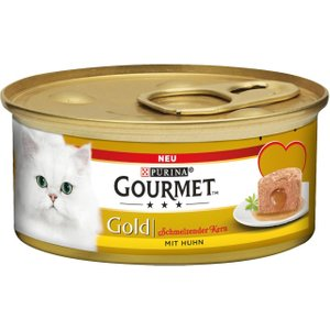 48 X 85g Gourmet Gold Wet Cat Food - 40 + 8 Free!* - Tender Chunks Chicken & Liver (48 X 8 Pets