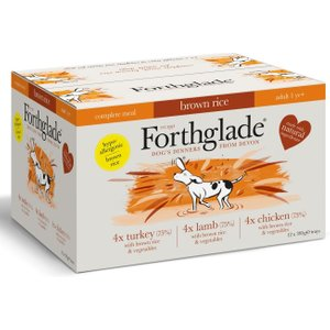 Forthglade Complete Meal Adult Dog - Brown Rice Mixed Pack - 12 X 395g Pets