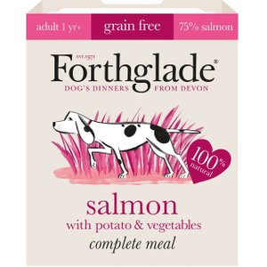 Forthglade Complete Meal Grain-free Adult Dog - Salmon - 18 X 395g Pets