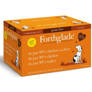 Forthglade Just 90% Grain-free Adult Dog - Just Poultry - 12 X 395g Pets