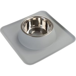 Silicone Placemat With Stainless Steel Bowl - 0.75 Litre Pets