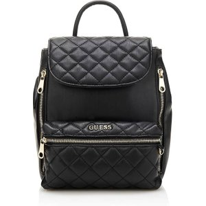 Guess Alanis Medium Quilted Backpack, Black