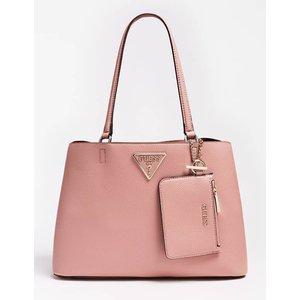 Guess Aretha Purse Charm Shoulder Bag, Pink