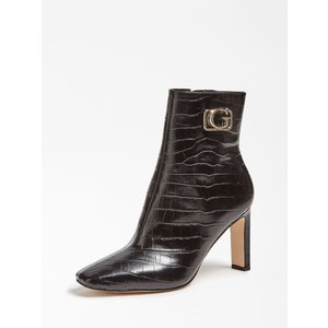 Guess Bevelyn Genuine Leather Ankle Boot, Black