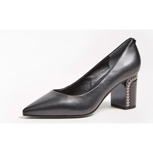 Guess Breelyn Real Leather Court Shoes, Black
